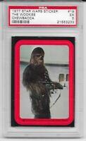 1977 Topps Star Wars Stickers Series 1 The Wookie Chewbacca 19 PSA 5 LOW POP