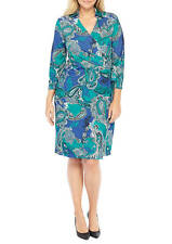 THE LIMITED Plus Size Jacquard Wrap Paisley Dress Size 2X