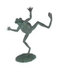 Verdigris Finish Dancing Frog Spitter Statue