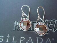 SILPADA RETIRED Sterling Silver 925 Faceted Champagne Toast CZ Earrings W2276 LA