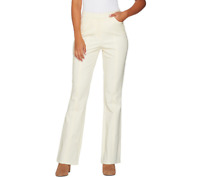 Isaac Mizrahi Live! Petite 24/7 Stretch Boot Cut Fly Front Pants Size 14 White