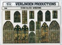 Verlinden 1:35 1:48 1:72 Stain Glass Windows Diorama Accessory #788