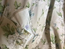 Laura Ashley linen mix curtains with pelmet.linen mix.