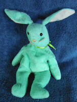 *1920b* Green Hippity the rabbit - TY 1996 Beanie Babies - 15cm - plush