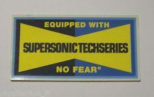 ADESIVO MOTO originale / Old Sticker NO FEAR SUPERSONIC TECHSERIES (cm 9 x 4,5)