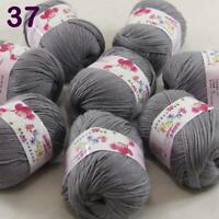 Sale 8 ballsx 50gr DK Baby Soft Cashmere Silk Wool Hand Knitting Crochet Yarn 37