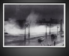 1958 CUBA - HAVANA ON STORM - SEAWALL COVER  The Malecón POSTCARD REPRODUCTION
