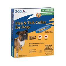 "ZODIAC FLEA & TICK COLLAR LARGE DOG NECKS UP TO 26"" 7 MONTH FREE SHIP TO USA"