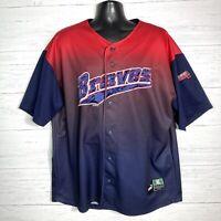 Vintage Rare Ombré Atlanta Braves Puma Baseball Jersey Size XL Stitched Logo