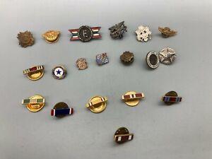 US Army Navy Etc. Lapel Pin Lot x19 E40