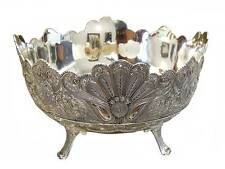 Silver Plated Fruit Bowl Centerpiece Filigree Vintage Antique Classy Gift 10""