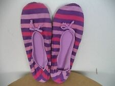 Women's Unbranded Slip-on House Shoes. One size. Multi-Colors. Striped.