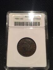 1826 Classic Head Half Cent Graded AU 50
