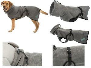 Trixie Hundebademantel  Trockencape Frottee Bademantel für Hunde XS - XXL grau