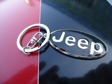 JEEP        badge emblem      keychain Key Fob Ring USA Seller  USPS EXPADITED