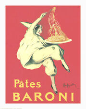 "PATES BARONI POSTER BY LEONETTO CAPPIELLO        LARGE 24"" X 30"" POSTER - NEW"