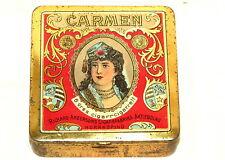 Richard Anderson Carmen Lady Cigarette Tobacco Tin 1910s