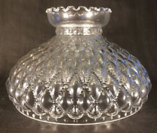 Oil lamp shade ebay 10 clear glass diamond quilted quilt oil kerosene lamp shade fits aladdin sh401 mozeypictures Gallery