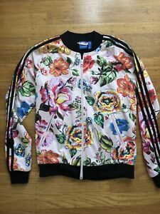 Adidas Floralita Floral Originals Track Superstar Jacket Pink Women's Sz Small