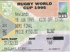 RWC 1995 nouvelle-Zélande V Angleterre SEMI FINAL 18 Jun 1995 Rugby ticket