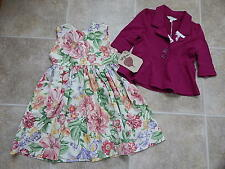 Beets n Snips Boutique girl outfit: floral Dress + Pumpkin Patch blazer. NWT.4 t