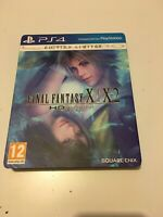 🤩 final fantasy x x-2 hd remaster edition ps4 playstation steelbook pal fr