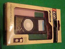 Black/Brown/Gold Nylon Tapestry iPattern iPod nano Cover Holder