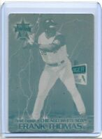 1/1 FRANK THOMAS 2000 PACIFIC VANGUARD PRINTING PLATE CHICAGO WHITE SOX 1 OF 1