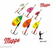 Mepps Aglia FLUO variety sizes & colours