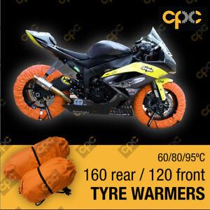 Orange Motorbike TYRE WARMERS set motor bike race track motorcycle TIRE WARMER