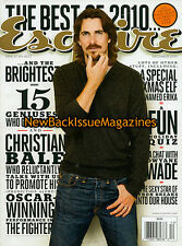 Esquire 12/10,Christian Bale,December 2010,NEW