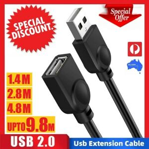 HIGH QUALITY 1.5/3/5/10M USB Extension Data Cable A Male to A Female Computer TV