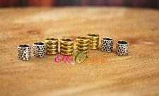 6 MM hole beard beads/dreadlock jewelry/dreadlock accessories/viking jewelry