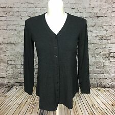 In Due Time Womens Maternity Dark Gray Vneck Button Thin Cardigan w Tie in Back