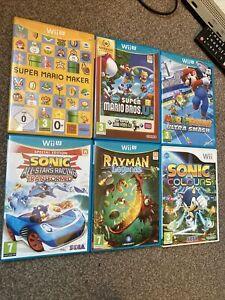 6 games bundle for Nintendo Wii U: Super Mario, Sonic Racing, Mario Tennis Etc