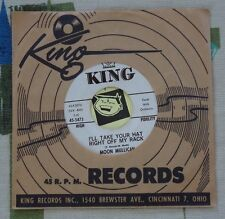 Moon Mullican 45 I'll Take Your Hat Right Off My Rack 1961 King Hillbilly VG++