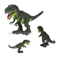 Walking Battery Operated Toy Dinosaur T-Rex Tyrannosaurus Rex Light Sound GREEN