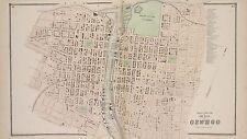 1867 OSWEGO, NEW YORK, FORT ONTARIO MILITARY GROUNDS 1ST AV-13TH ST ATLAS MAP