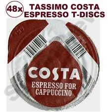 48x TASSIMO COSTA CAPPUCCINO ESPRESSO COFFEE T-DISCS (LOOSE) EXPRESSO PODS