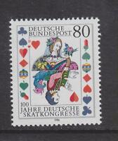 1986 WEST GERMANY MNH STAMP DEUTSCHE BUNDESPOST  GERMAN SKAT CONGRESS SG 2139