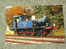 Vintage colour postcard of Bluebell steam engine on the Bluebell Line in Sussex