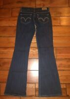Levi's Too Superlow 524 Womens Dark Jeans  Juniors 25 x 30 sz 0/1 New no tag