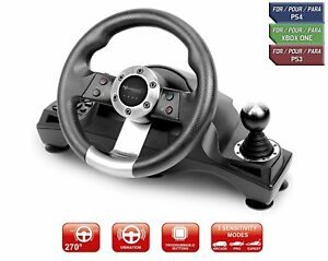 Xbox One PS4 Steering Wheel Pedal Set Racing Gaming Simulator Driving PC PS3