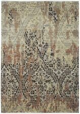 New Modern Hand Knotted Persian Area Rug Beige/Rust Color Turkish Rugs (5 x 7)