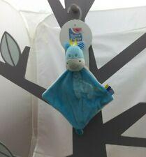 Sucre d'Orge doudou Girafe bleu velours