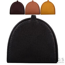 Mens / Gents Soft Leather Semi-Circle Coin / Money Purse / Tray / Wallet