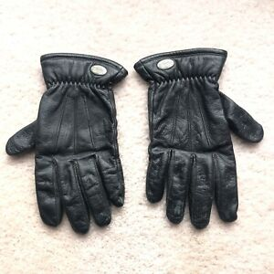 Harley Davidson Men's Black Leather Padded Motorcycle Riding Gloves Vintage XXL