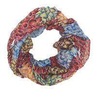 Loop rot blau beige Blumen by Ella Jonte Damenschal Blumen Schal Viskose
