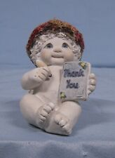 "Dreamsicles figurine signed sculpture love notes ""Thank You"", 1998"