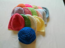 Handmade Crocheted Baby Hats...3 For One Price